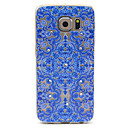 Buy Samsung Galaxy S6 Compatible Blue Flowers Figure Diamante Design TPU Soft Back Cover Case