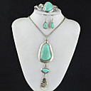 Buy Toonykelly Vintage Look Turquoise Stone(Earring Bracelet Necklace) Jewelry Set