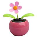 juguete balancee el auto del coche de la flor de energía solar color rosa flip flap