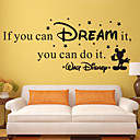 Wall Stickers Wall Decals Style if You Can Dream It English Words & Quotes PVC Wall Stickers