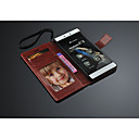 fashion® PU nahkalompakko kotelo jalustalla korttipaikka huawei p8 (valikoituja väri)