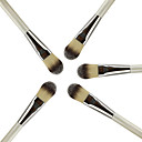M0247 1PCS Professional Pearl White Wooden Handle Foundation Brush