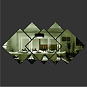 Rhombus Shaped DIY Mirror Wall Stickers Art Decals