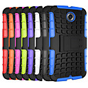 Hybrid TPU+PC Hard Shockproof 2 In 1 With Stand Function Cover Cases For Motorola Moto E/Moto Nexus 6(Aorted Color)