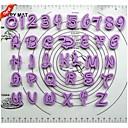 퐁당 케이크 장식 도구 만화 글꼴 알파벳 커터 번호 문자 (36)의 플라스틱 쿠키 커터 세트를 설정 lutter
