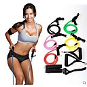 Buy Natural Tension Health Elastic Exercise Stretch Belt Pull Rope Strap Handle Sport Resistance Bands (Random Color)