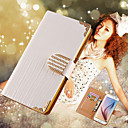 Luxury Bling PU Leather Case For  Galaxy S6 G9200 Crystal Phone Bag Cover For Galaxy S6 Wallet Style Rhinestone Case