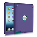 3 in 1 Combo Wave Pattern PC & Silicone Shatter-proof Case for iPad 2/3/4