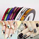 Buy 12MM Broaden Mixs Color Striping Tape Line Nail Stripe Art Decoration Sticker