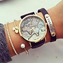 unisex wereldkaart stijl horloge / vintage wereldkaart / antiek wereldkaart / dames horloge / vrouwen premium kunstleer polshorloge