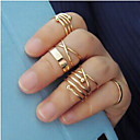Buy Midi Rings Gold Plated Alloy Fashion Golden Jewelry Wedding Party Daily Casual 1set