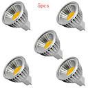 5pcs  5W MR16 400LM Warm/Cool White Light LED COB Spot Lights(12V)