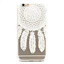Buy White Campanula Pattern TPU Cell Phone Soft Shell iPhone 6 Plus