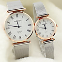 Buy Couple's Round Dial Alloy Band Lovers' Quartz Analog Wrist Watch Cool Watches Unique Fashion