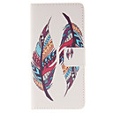 Two Feather Patterns PU leather phone Case For Huawei P8 Lite