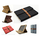 With Elastic Belt Wind Restoring Ancient Ways Flip PU Leather Case Cover For iPad 4/3/2(Assorted Color)