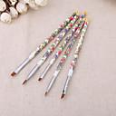 Buy 5PCS/set Nail Brushes Fashion New Art Wood UV Gel Salon Pen Flat Brush Kit Dotting styling Tools