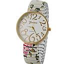 Buy Women's Fashion Style Simple Dial Elastic Flower Band Quartz Bracelet Wrist Watches Cool Unique