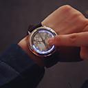 Hombre Reloj de Moda Digital LED / Pantalla Táctil Piel Banda Reloj de Pulsera Negro