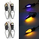 4x CARCHET 12 LED 3528 SMD Motorcycle Double Color Turn Signal Indicator Flasher