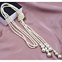Buy Necklace Strands Necklaces / Pearl Jewelry Wedding Party Daily Casual Fashion Alloy Imitation Silver 1pc