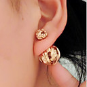Buy Earring Stud Earrings Jewelry Women Wedding / Party Daily Casual Alloy 1set Gold Black Silver