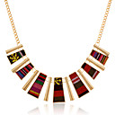 Ethnic Retro Colours Embroidery Alloy Necklace