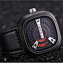 Buy SKONE® Novelty Square Dial Designer Men Watches Shock Resistant PU Leather Strap Watch Fashion Casual Wristwatch Wrist Cool Unique
