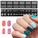 1Pcs The New Manicure Sticker Printing Template DIY Hollow Hollow Long Stick 12 Decals Creative (12 Styles)