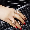 Lady's Fashion  Inlay Diamond Alloy Midi  Rings