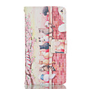 Cat Pattern Card Stand Leather Case for Huawei P8/P8 Lite