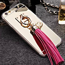 Buy iPhone 6 Case / Plus Plating Ring Holder Mirror Back Cover Solid Color Hard PU LeatheriPhone 6s Plus/6
