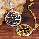 Buy Necklace Pendant Necklaces Jewelry Party / Daily Casual Sports Fashion Titanium Steel Gold Plated White 1set Gift