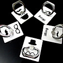 Gentleman Characteristic Ring Metal Sticker Stand for iPhone(Random Pattern)