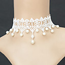 Buy Women's Choker Necklaces Pendant Gothic Jewelry Pearl Necklace Lace Fashion White JewelryWedding Party Halloween Daily