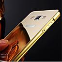 고급 도금 금속 프레임은 삼성 galaxya3 / A5 / A7 / A8 투명 아크릴 커버 전화 쉘 케이스를 추가