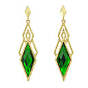Alloy Hollow Rhombus Earrings(Assorted Color)