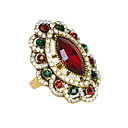 Gold Plated Colorful Rhinestone Women Wedding Ring
