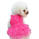 Dog Dress Red / Blue / Pink / Yellow Summer / Spring/Fall Bowknot / Polka Dots Fashion