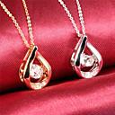 Buy Drops Water Diamond Ms 18K Gold Titanium Steel NecklacesImitation Birthstone