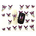 Buy 13D Water Transfer Pink Butterfly Nail Art Sticker DIY Decoration Tools Tips BLE840D