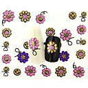 Buy 13D Water Transfer Cartoon Sunshine Flower Nail Art Sticker DIY Decoration Tools Tips BLE868D