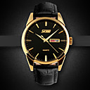 SKMEI Men's Japan PC Leather Band Quartz Analog Calendar 30M Water Resistant Dress Watch Cool Watch Unique Watch