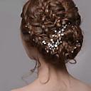 joyas de diamantes de imitación de pelo horquillas de plata perla de las mujeres para la fiesta de la boda