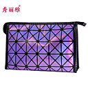 Makeup Storage Cosmetic Bag / Makeup Storage PU Lattice Quadrate 22.9x7x14.6cm Blue / Purple / White