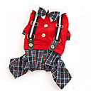 Pants / Jumpsuit for Dogs / Cats Red / Gray Summer / Spring/Fall Plaid / Fashion S / M / L / XL / XXL Cotton-Lovoyager