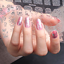 Buy 3D Nail Art Full Sticker Silver Color ,60 Decals/Sheet,5 Different Styles 1 Sheet,For 5 Pairs Hands-YILIN-83S