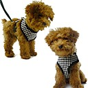 Perros Bozales / Correas Ajustable/Retractable / Houndstooth Rojo / Negro Textil