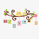 Buy Family Photo Stickers Cartoon Owl Living Room Bedroom Wall DIY Removable Decals