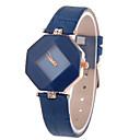 Buy Women's Leather Band Analog Quartz Rhombus Case Wrist Watch Fashion Cool Watches Unique